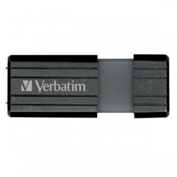 VERBATIM USB DRIVE 2.0, 16GB, HI-SPEED, STORE'N'GO, PINSTRIPE RETRÁCTIL, COLOR NEGRO