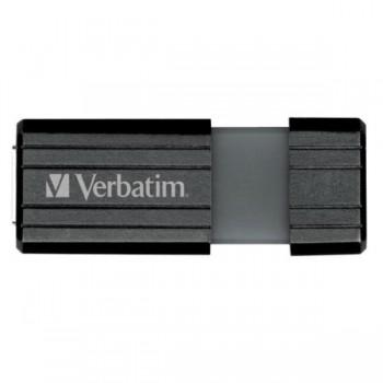 VERBATIM USB DRIVE 2.0, 64GB, HI-SPEED, STORE'N'GO, PINSTRIPE RETRÁCTIL, COLOR NEGRO