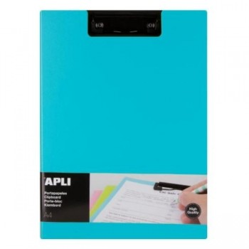 CLIPBOARD PP FOAM + SOLAPA COLOR AZUL A4 APLI