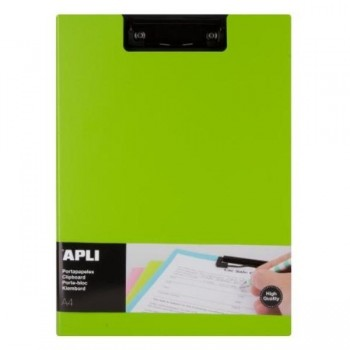 CLIPBOARD PP FOAM + SOLAPA COLOR VERDE A4 APLI