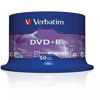 DVD+R VERBATIM 4.7GB 16x Advanced AZO (Tarrina 50)