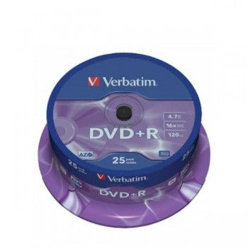 DVD+R VERBATIM 4.7Gb 16x (Tarrina 25 ud)