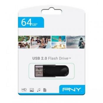 MEMORIA USB ATTACHE 4 2.0 64GB PNY