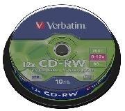 CDRW VERBATIM 700MB (TARRINA DE 10)
